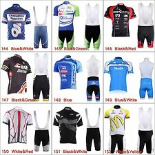 New Cycling Bike Bicycle Team Clothing Jersey Shirts Bib Shorts Pants Set MC0016
