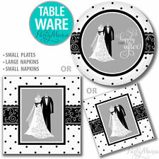 BRIDAL SHOWER WEDDING ENGAGEMENT COCKTAIL PARTY SUPPLIES NAPKINS PLATES