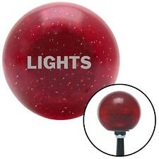 AMRS Engrave Only LIGHTS Red Metal Flake Shift Knob w/M16x1.5 200929