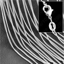 Wholesale lots 5pcs NF 925 Silver Plated 1.4mm Rolo Curb Chain Necklace 16-30""
