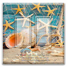 Light Switch Plate Cover Star Fish Sea Shell Planks w/ Rocker Switch or Outlet