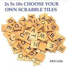 A to Z Wooden Scrabble Tiles Scrabble Letters Individual Letter Tile Craft Game