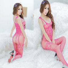 Ladies' Sexy Lingerie Plus Size Fishnet Body Stocking Clothing Crotchless Hot