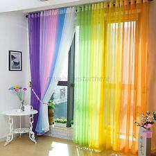 15 Colors Door Window Curtain Sheer Voile Divider Drape Panel Scarf Valance New