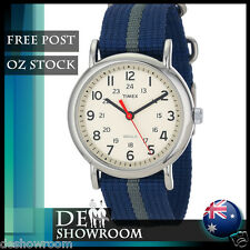 "Timex Men's ""Weekender"" Blue Fabric Strap Watch T2N654 Free Shipping in AU"