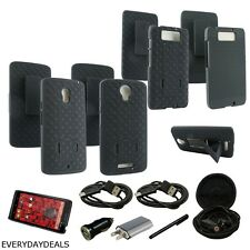 Heavy Duty Rugged Armor Hybrid Case Belt Clip Holster for Motorola Droid + EXTRA