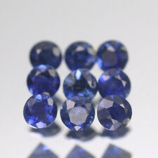 2.2mm Lot 1,2,6,10 pcs Heated only! Round Calibrated Natural Blue SAPPHIRE