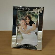 Personalised 6x4 Photo Frame with Crystal Butterfly, Wedding / Anniversary Gift
