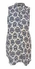 New Peacocks Maternity size 10 - 20 Black White Paisley Loose fit Vest Top Tunic