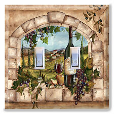 Light Switch Plate Cover TUSCAN WINE BOTTLE GRAPES  Kitchen Home Decor