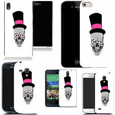 case cover for majority Popular Mobile phones -pink skull hat silicone
