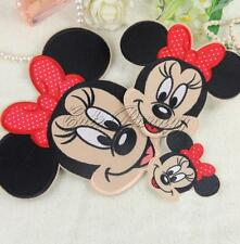 Mickey Minnie Mouse Embroidered Applique Iron On Patches Sew Cloth DIY Accessory