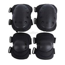Adult's Sports Protective Pad Set Gear Sports Military Knee Elbow Protector 4Pcs