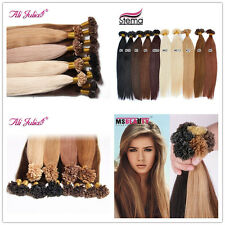 "7A 100S 16""-26"" Pre bonded U/Nail Keratin Tip Fusion Remy Human Hair Extensions"