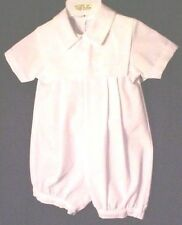 Will'beth  77241  Dressy White Embroidered Shortall w Applique. Boy's  3 M  .