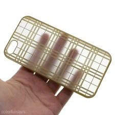 Fashion Frosted Lattice Grid Simple Hard Back Skin Case Cover For iPhone 5/5s/SE