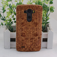 Genuine Natural Maya Cherry Wood Bamboo Wooden Hard Cover Case for LG G2 G3 G4