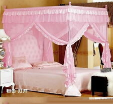 Pink Four Corner Post Bed Canopy Mosquito Netting Or Frame Post All Size ZXC