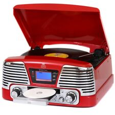 GPO Retro Memphis Record Player, CD Player and Radio Available in 3 Colours