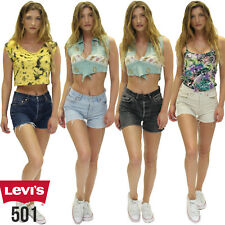 LEVIS 501 DENIM SHORTS - VINTAGE HIGH WAISTED HOTPANTS GRADE A 6 8 10 12 14 16