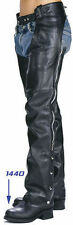 Xelement Mens Black Cruisers Leather Cruiser Motorcycle Chaps Pants