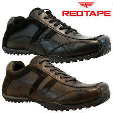 NEW MENS RED TAPE LEATHER CASUAL LACE UP GYM WALKING TRAINERS DRIVING SHOES SIZE