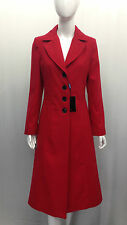 Ladies New Long Coat Womens Jacket Wool Military Button Warm Winter Lined UK