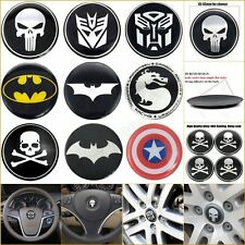 3D Alloy Emblem Badge Car Steering Wheel Tyre Rim Center Hub Cap Decal Sticker