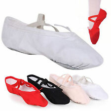 U Child Adult Canvas Ballet Dance Shoes Slippers Pointe Dance Gymnastics 13 Size