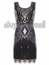 1920s Flapper Dress Great Gatsby Black Vintage Charleston 20s Sequin Fancy Party