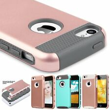 Hybrid Shockproof Rugged Hard Back Case Cover Bumper For Apple iPhone5C 5&5s SE