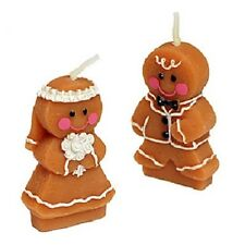 100 Gingerbread Bride and Groom Candle Wedding Bomboniere Favours