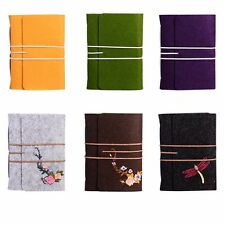 5in1 Vintage Felt Wool Cover Kraft Embroidery Notebook Diary Travel Journal Memo
