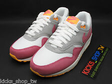 DS 2014 NIKE NIKE WMNS AIR MAX 1 ESSENTIAL WHITE PINK 599820-107 ZERO RUNNING AM
