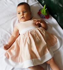 Newborn Baby Dress Handmade Infant Dress Toddler Outfit Baby Girl Sateen Clothes
