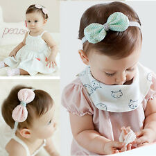 1Pc Lovely Baby Girls Headbands Elastic Lace Bowknot Hair Band Accessories
