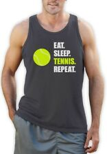 Eat Sleep Tennis Repeat - Tennis Player Gift Sports Singlet Novelty Present