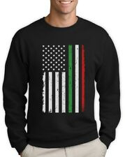 Big Distressed Italian American Flag Italy U.S.A Sweatshirt Gift Idea