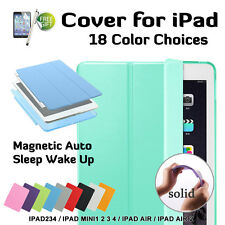 Smart Cover and Hard Back Case for Apple iPad 2/3/4-mini1/2/3-Air-Air2 -AU Local