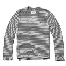 NEW ABERCROMBIE & FITCH for MEN A&F Panther Gorge L/S Tee H Grey Stripe S M L XL