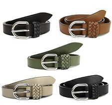 NEW Authentic GUCCI Mens Leather Wrap Belt with Orval Buckle 336828