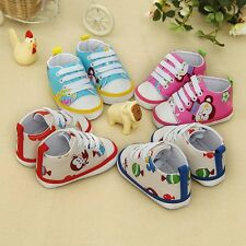 Kids Baby Girl Lacing Anti-slip Prewalkers Newborn Shoes Cloth Shoes 0-18Months