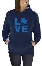 Autism Awareness Month - I Love Someone With Autism Women Hoodie Support