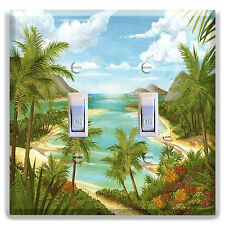 Light Switch Plate Cover  Palm Tree Beach Paradise Decor