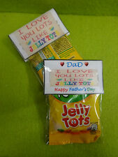 LOVE YOU LOTS LIKE JELLY TOTS  Sweets Quirky Novelty Fathers Day Gift Dad Daddy