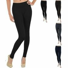 Junior Plus Size- Seamless Solid Full Length Long Leggings Nylon Casual ONE SIZE