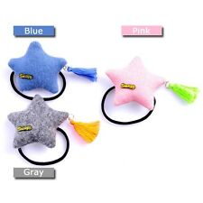 New Toddler Girls Women Hair Accessory Macaroons Color Star Tassel Ponytail Tie