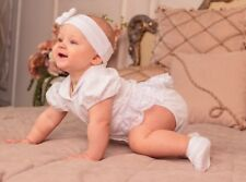 Baptism Dress Newborn Baby Girl Christening Bodysuit White Baby Dress Outfit