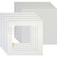 Square Picture Photo Mounts+Backs, Pack of 10,  White Core, Instagram