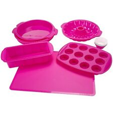 18Pc Assorted Silicone Bakeware Baking Pans Cake Cupcake Pie Cookie Sheet Bread